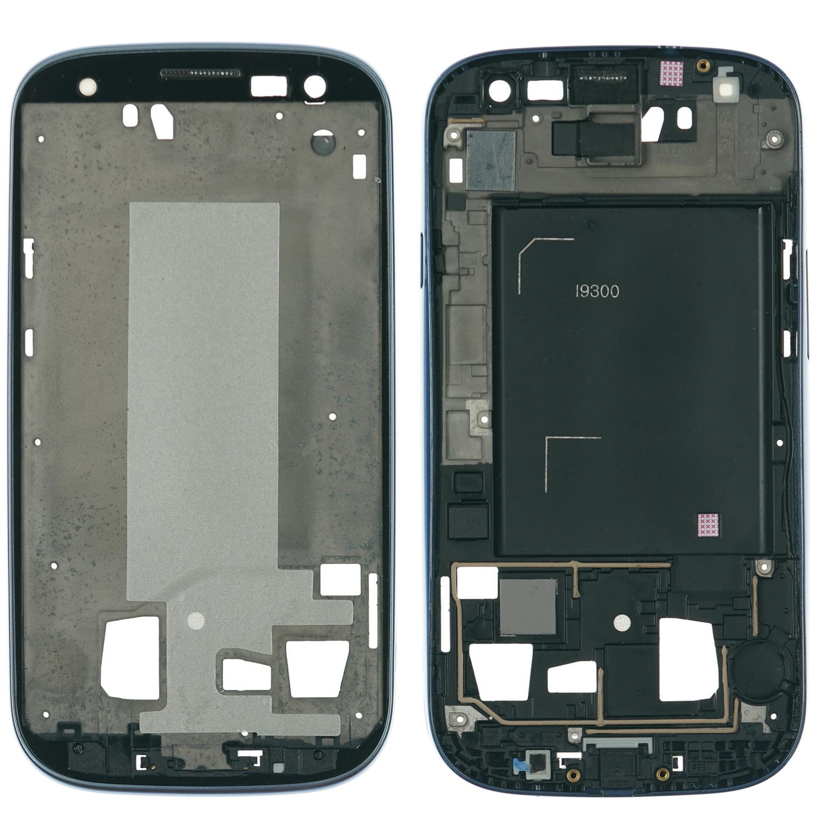 Détails sur Samsung Galaxy S3 Gt i9300 Affichage LCD A Boîtier Cadre Bleu
